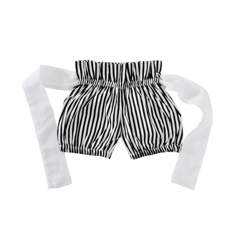 Baby Girl Lips T-shirt +Striped Short Pants+Headband 3Pcs Outfits Newborn Kids Cute Cartoon Outfits Toddler Clothes Set