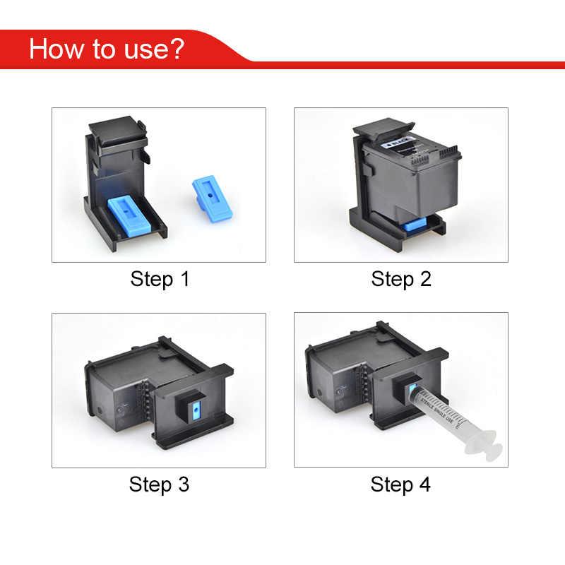 Hwdid Ink Cartridge Clamp Penyerapan Klip Clamp Memompa Alat Kompatibel untuk HP 21 22 301 122 121 140 141 650 652 901 61