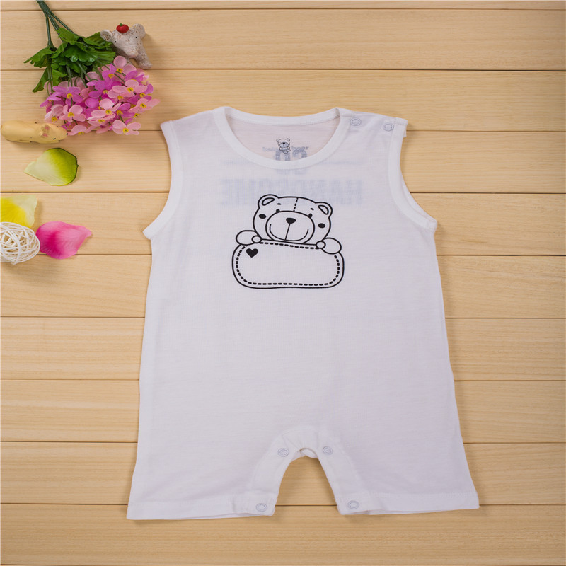 4e2cf6bac025 Best buy Newborn baby clothes White cool kids summer baby rompers Short  sleeve one pieces jumpsuit baby boy girl clothing online cheap