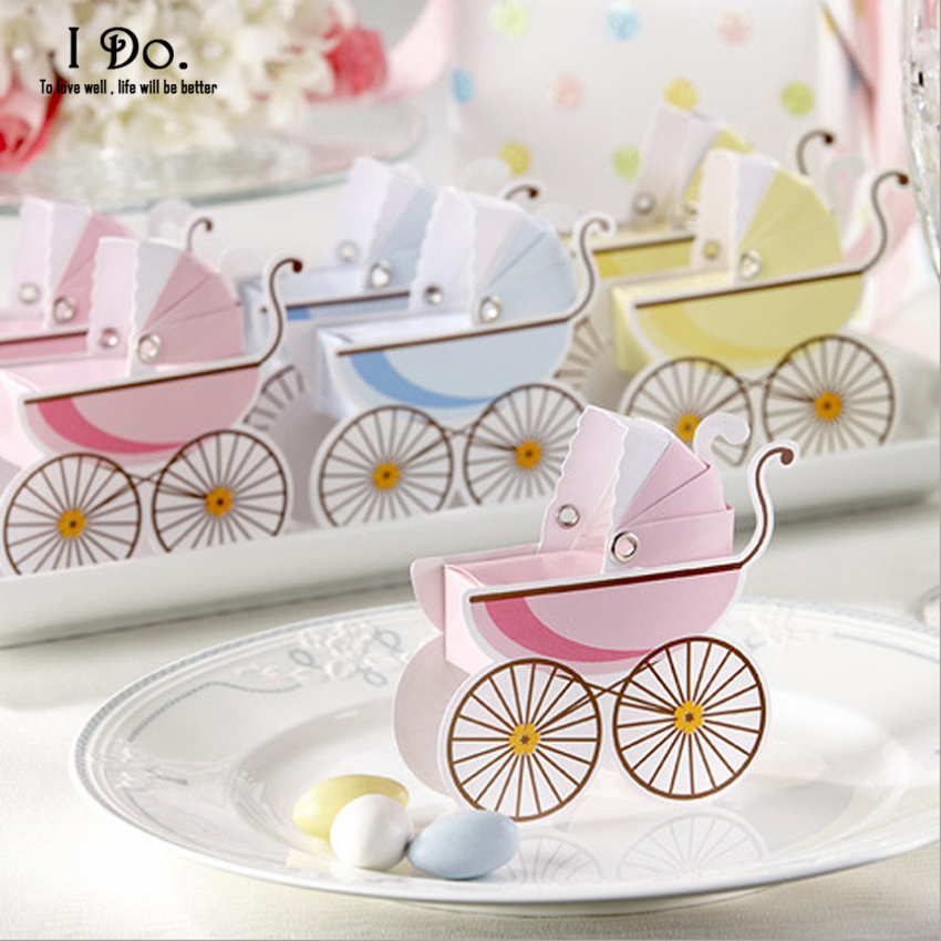 Free Shipping 10pcs Baby Carriage Birthday Party Decorations Kids