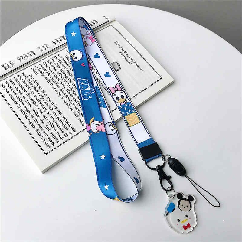 Ponsel Tali Lanyard Tali Leher untuk Kunci ID Kartu USB Tali Kartun Lucu Mickey Minnie DIY Aksesoris untuk Airpods kasus
