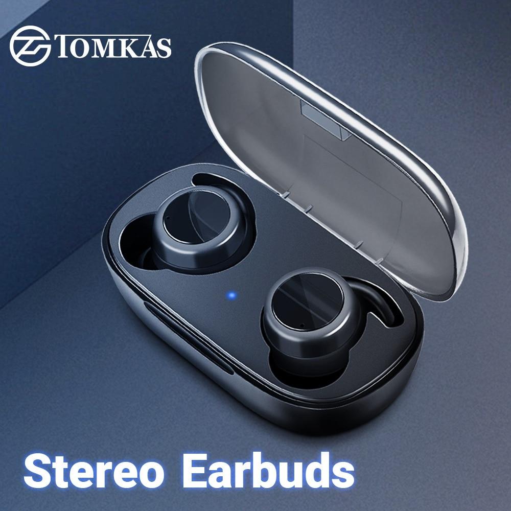 Ordentlich Tomkas Bluetooth Kopfhörer Tws 5,0 Drahtlose Kopfhörer 3d Stereo-freisprecheinrichtung Kopfhörer Sport Ohrhörer Headset Mit Dual Mikrofon Fabriken Und Minen Home