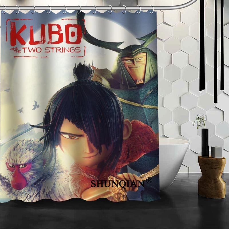 Best Nice Custom KUBO and the two strings Shower Curtain Bath Curtain Waterproof Fabric Bathroom Curtain MORE SIZE A6.1-120