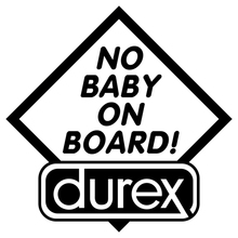 CS-555#15*15cm No baby on board funny car sticker and decal silver/black vinyl auto stickers