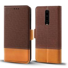 for OnePlus 7 Pro Case Vantage PU Leather Flip Kickstand Wallet Phone Cover with Credit Card Holders for Oneplus 7 Flip Case