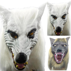Amazing design animal wolf head shape with hair mask for cosplay fancy dress costume party for.jpg 250x250