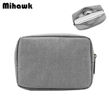 Mihawk Oxford Fabric Digital Package Data Cable Mouse Charging Mobile Data Men's Travel Necessary Storage Organizer Accessories(China)