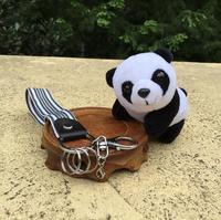 Panda En Peluche Pendentif Jouet Poupée de Bande Dessinée De Voiture Porte-clés Peluche Jouets