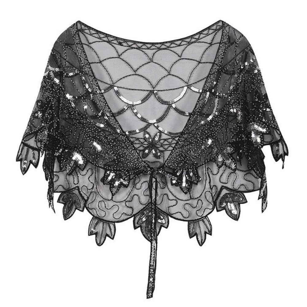 Autumn Women Sequin Cardigan with Belt Short Cropped Jacket Coat Vintage Gothic Luxury Wedding Party Cloak Bolero Shrug Jacket