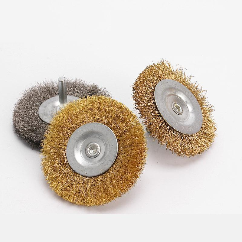 75*6mm Soft Stainless Steel Wire Brush For Derusting Polishing Wheel Grinding Head Flat Steel Wire