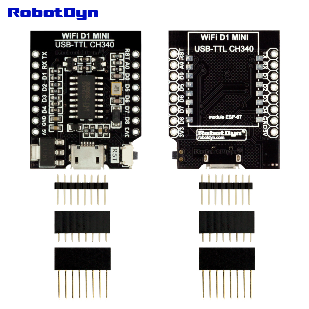 CH340G USB-TTL конвертер для ESP8266 -ESP07 / ESP12 для WI-FI D1, маленький размер, с pin-заголовки набор.