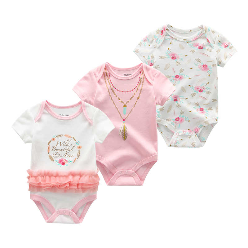 Baby Girl Clothes 3Pcs/sets Onesie Christmas ClothesNewborn Romper Kids Costume For Boy Infant Jumpsuit Short Sleeve Clothing
