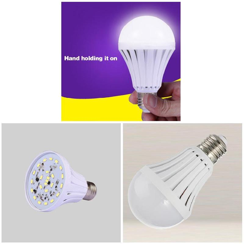 Hot Sale  Smart LED 5/7/9/12/15W Emergency Light Lamp Rechargeable Intelligent Lamp HVR88