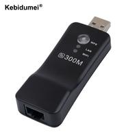 Kebidumei Universal rango Wifi extensor 300Mbps inalámbrico TV Wifi adaptador de tarjeta de red para Samsung LG Sony TV
