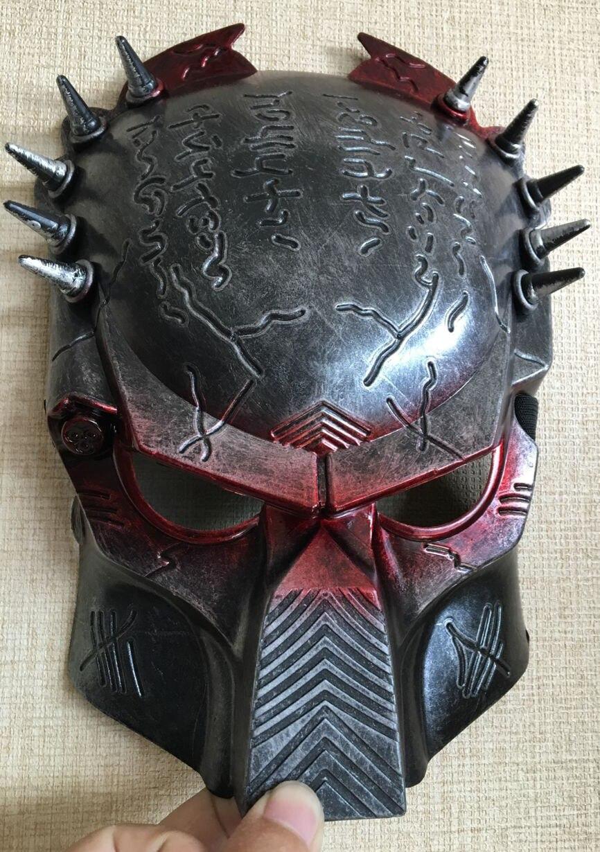 New Cosplay Quality Costume Ball Aliens Vs Predator AVPR Red Eye Mask Halloween Dance Birthday Party Masquerade