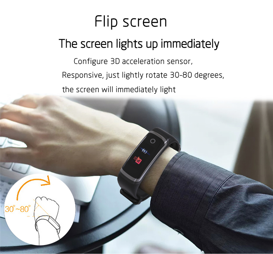 Longet Fitness Tracker M4 Newest chip Nrf52832 real-time Heart Rate+ blood pressure Monitor Smart Bracelet wristband & stopwatch 20