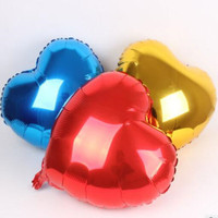 Wedding Balloon 10inch Large Red Heart Shap Foil Air Balloons Wedding Party Say Love Decorations Marriage