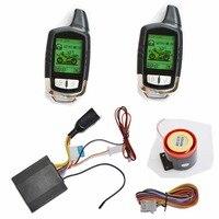 Ahorro de energía Super Largo de Dos Vías Sistema de Alarma de Arranque Del Motor A Distancia de Seguridad de La Motocicleta Con 2 Indicador de Estado LCD Transmisores