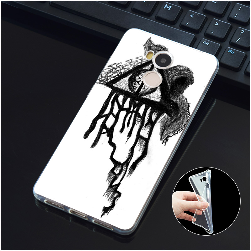 DREAMFOX M505 Harry Potter Deathly Hallows Soft TPU Silicone Case Cover For Xiaomi Redmi Note 3 4 5 Plus 3S 4A 4X 5A Pro Global in Fitted Cases from Cellphones Telecommunications