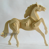 Hot Sale Horse DIY Puzzle Children Learning Toys New Fancy Intelligent Educational Toy 3D Animal Model