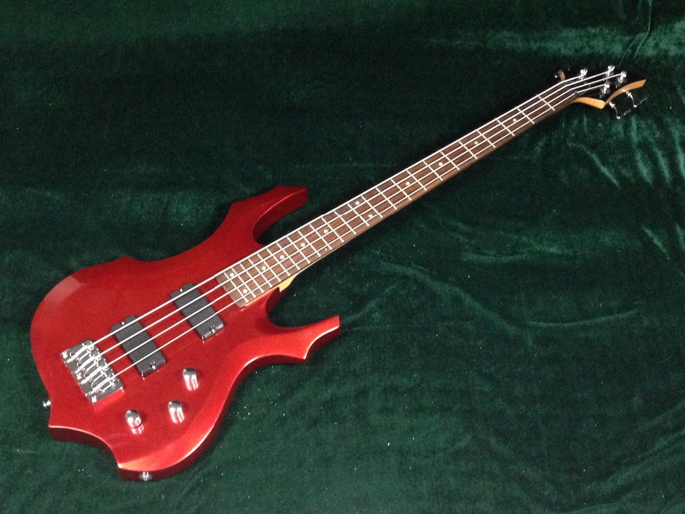 High Quality Metallic red 4 string Bass Guitar Guitarra All Color Available Free Shipping