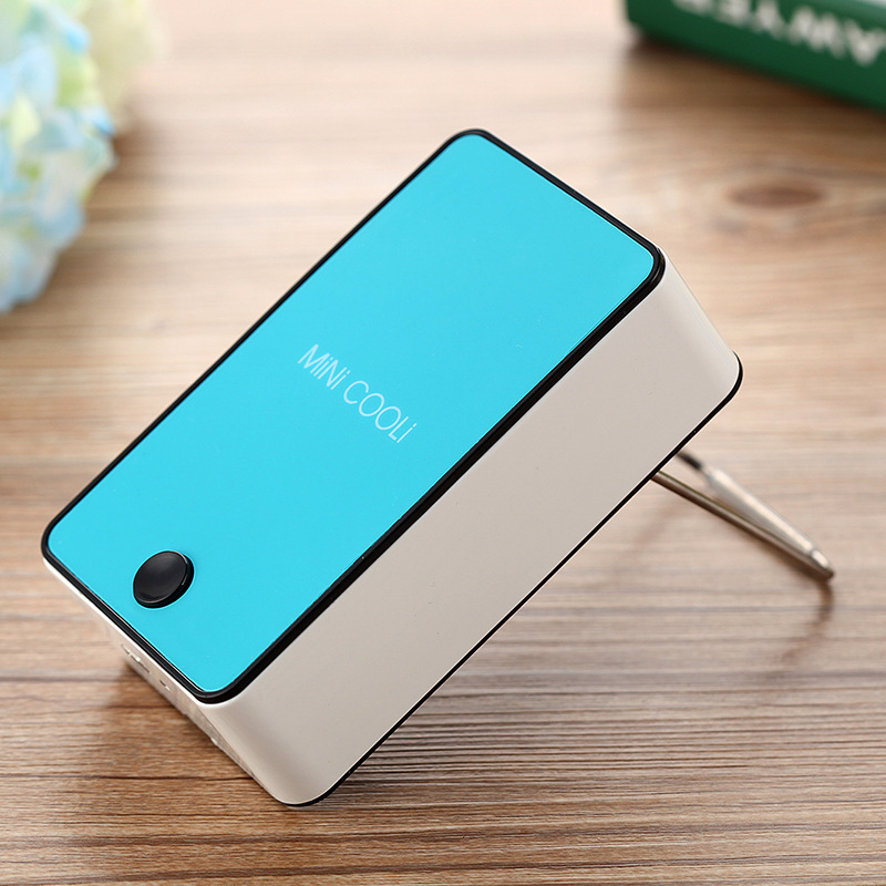 Household Mini Fan Mini Portable Hand Held Desk Air Conditioner Cooler Cooling Fan For Home Air Appliance Machine 5 colors