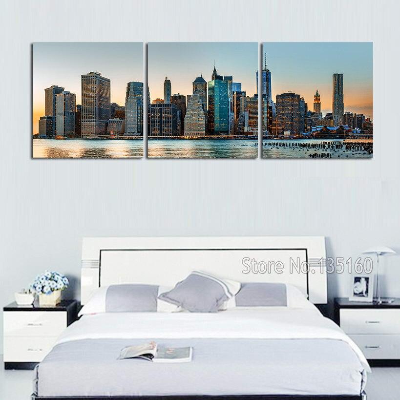 Wohnkultur Große Bilder Home Living Wandkunst Manhattan Stadtbild Leinwanddruck New York Skyline...