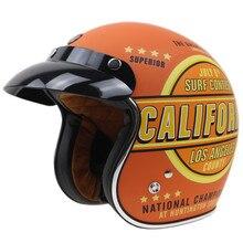 Geniune TORC Мотоцикл Шлем Калифорния Дизайн Открытым лицом мотоциклетный шлем Новинка и Ретро Стиль защитный шлем