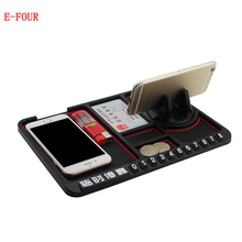 E-FOUR Car Anti-slip mat car multi-function phone holder PVC washable non slip sticky gel pad interior accessories for