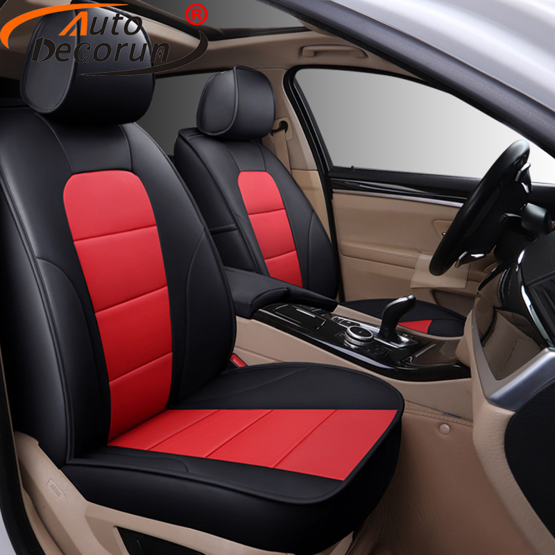 AutoDecorun Perforated Genuine Leather Seat Covers for Subaru Impreza wrx 2008 2010 2014 Accessories font b