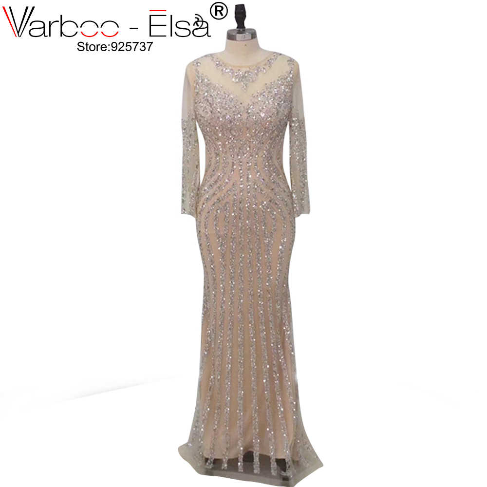 3f88a82c42 Detail Feedback Questions about VARBOO ELSA Luxury Crystal Hand Made Evening  Dress 2018 Elegant Mermaid Prom Dress Long Champagne Tulle robe longue  Dubai ...