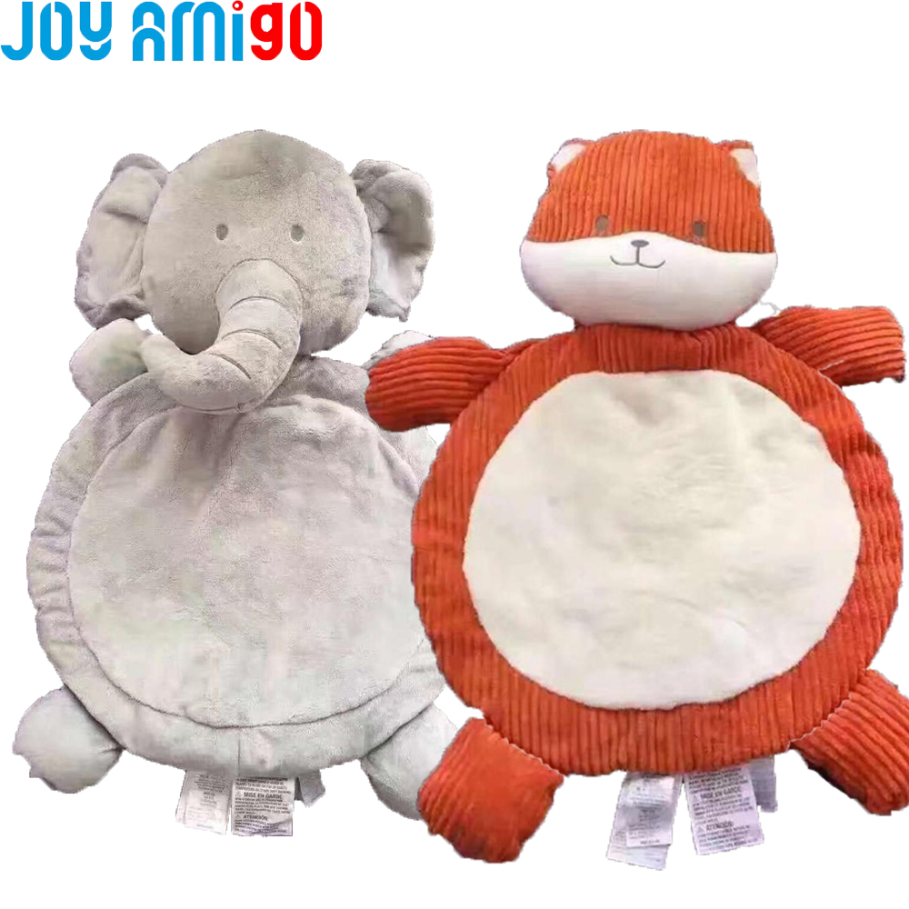 Soft Baby Playmat Fox/Elephant Floor Mat Plush Toy Playing
