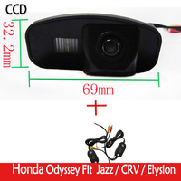 Wireless HD Transmitter Receive Video Reverse Color CCD Camera Auto Parking Assistance New LED For CRV