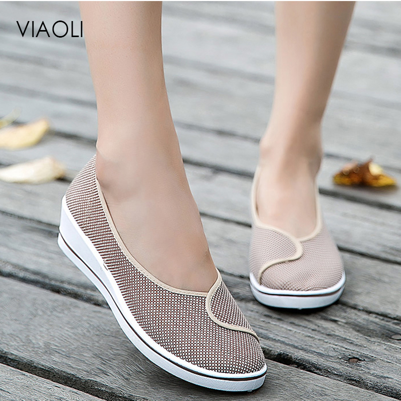 Nurse Shoes Comfortable Female Medical Shoes Summer Hospital Soft Bottom Wedge Anti-Slip Doctor Nurses Footwear Work Shoes Women