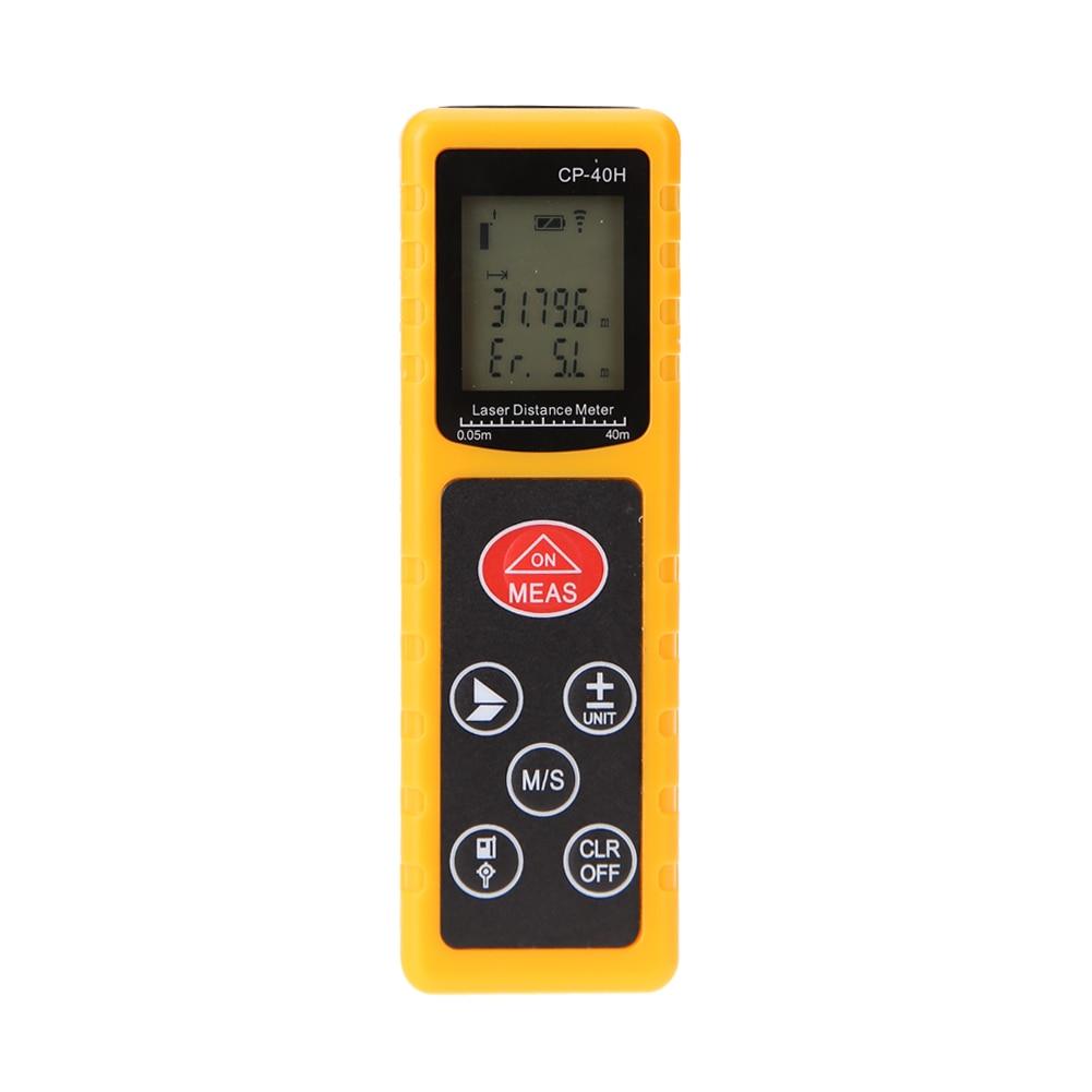 цена на 1mm High Precision Laser Level 40m Range CP-40H Mini Handheld Digital Infrared Laser Range Finder Distance Meter Measuring Tool
