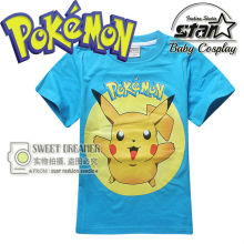 Pokemon Go Boys T-shirt Fashion Pikachu Stitch Tops Pikachu Printed t shirts Boy Short Sleeve Hipster Comics tee
