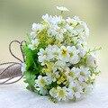 Estilo rural alça de Corda de Cânhamo Flores Bouquets de Casamento Da Dama de Honra Broche Bouquets Artificiais Bouquets de Dama de honra Barato Novo