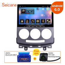 Seicane Android 6.0 HD Car DVD Player GPS Navigation for 2005-2010 Mazda 5 Radio Bluetooth 3G 4G WIFI OBD2 Rear View Camera