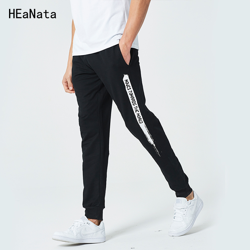 Men Pants Casual Cotton Slim Fit Mens Joggers Sweat Pencil Pants Letter Print Skinny Sweatpants Fashion Gyms Trousers USA Size ...