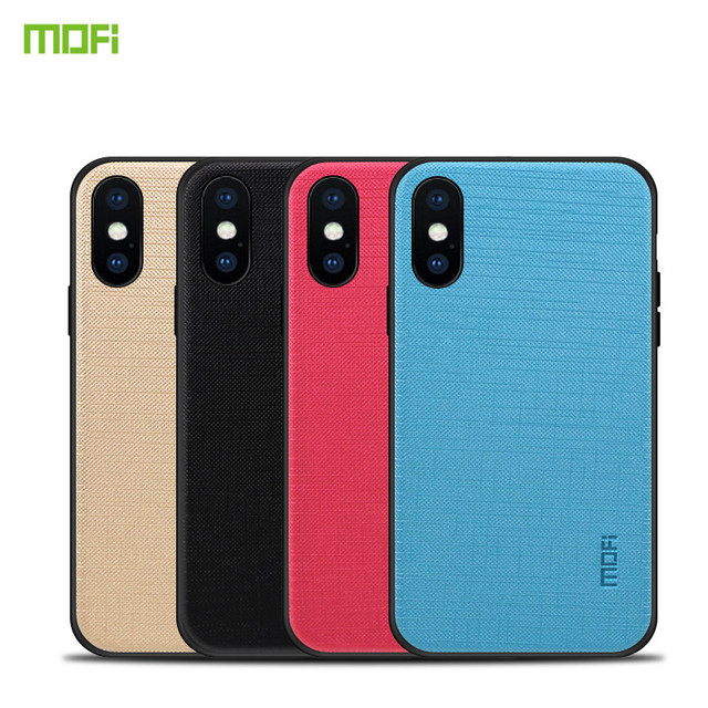 best sneakers b2351 bc0aa Original MOFi Brand PC +TPU + Cloth Case for iPhone X Cover Phone Cases  Full Protection Back Cover for iPhone X Case 5.8 inch-in Fitted Cases from  ...