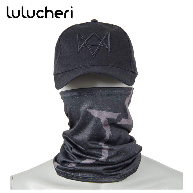 все цены на Aiden Pearce Cosplay Masks Hat Costume Black Baseball Cap Party Halloween Mask Watch Dogs 2 Mask Adjustable Strap Caps