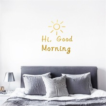 Hi Good Morning Wall Sticker For Living Room Home Decoration Bedroom Decal Art Wallpaper