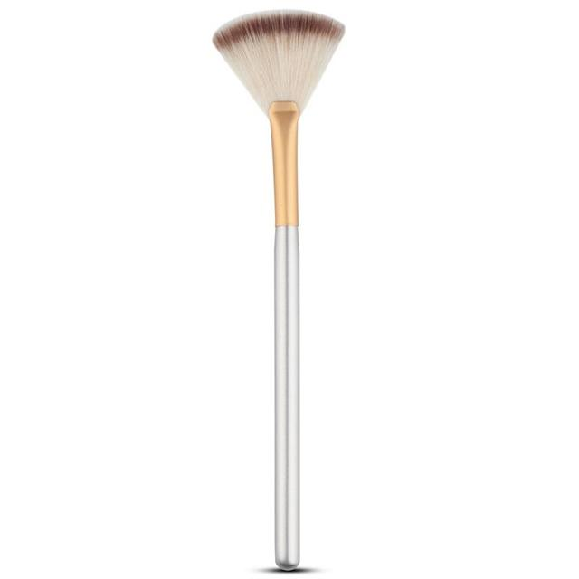 Cosmetic Tools Accessories Fan Shape Makeup Brush Highlighter Face Powder Brush 1 Pcs For Face Make Up 3