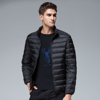 2020 winter men's casual Thin section slim Stand collar duck down jackets windproof waterproof keep warm down coats 6 colors