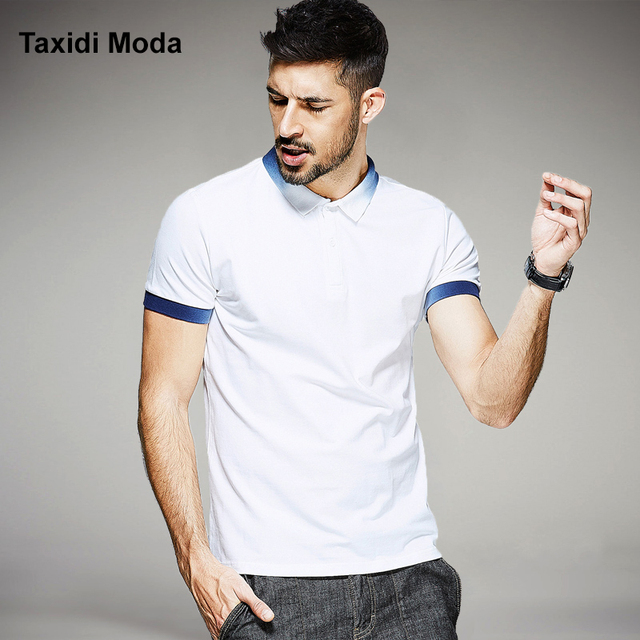 2017 Summer Mens Fashion Polo Shirts Patchwork Contrast Color Brand Clothing Man's Wear Short Sleeve Clothes Male Slim Fit Tops