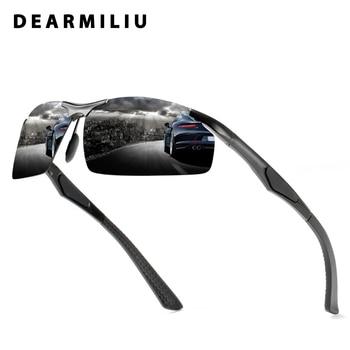 DEARMILIU 2019 Polarized Sunglasses Men Aluminum magnesium Driving Eyewear Rimless Sun Glasses UV400 Gafas De Sol For Sport Men
