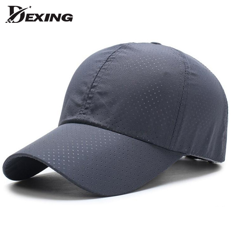 [Dexing]   Solid Mesh Curved  Casual  Baseball Caps summer Men Breathable trucker hat  Quick-Drying Gorras Women sun hat aetrue winter knitted hat beanie men scarf skullies beanies winter hats for women men caps gorras bonnet mask brand hats 2018