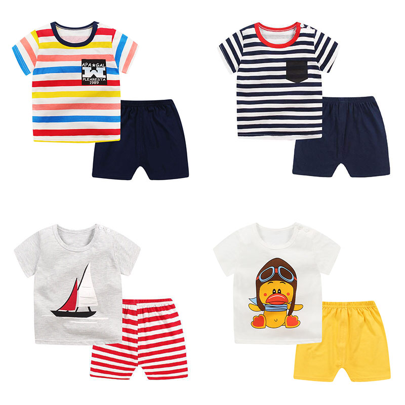 Summer children clothing sets cartoon toddler girls clothing sets top+pant 2Pcs/sets kids casual boys clothes sport suits outfit 2018 teenage girls clothing sets summer casual children clothing kids clothes toddler girls suits t shirts tops plaid skirts