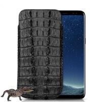 Натуральная кожа крокодила чехол для samsung Galaxy S8/S8 плюс роскошный оригинальный из кожи крокодила телефон Чехол Сумки Случаи