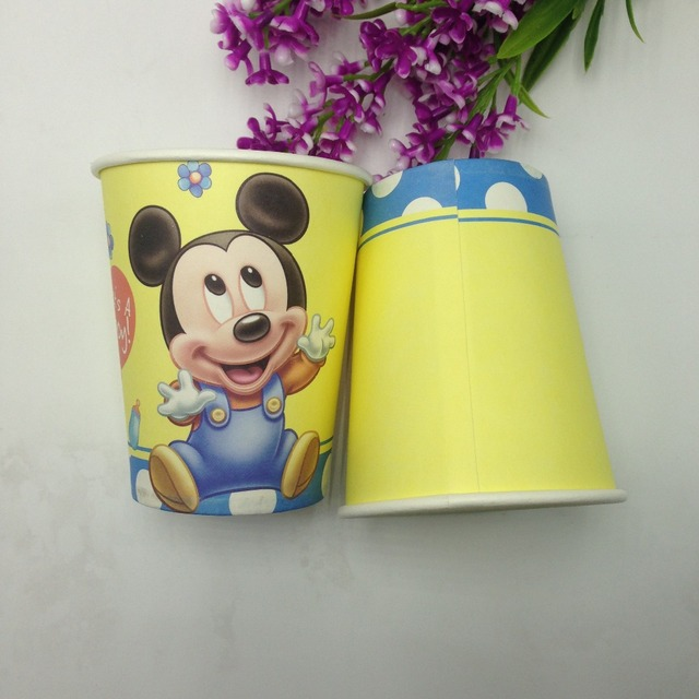 cups Baby cartoon Mickey mouse theme printing paper cup tableware for happy birthday Party drinking cups & cups Baby cartoon Mickey mouse theme printing paper cup tableware ...
